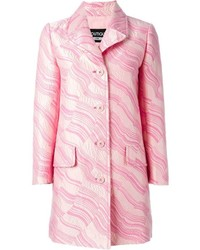 Manteau imprimé rose