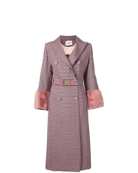 Manteau imprimé rose Fendi