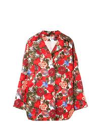 Manteau imprimé rouge Marni