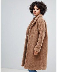 Manteau marron clair Missguided
