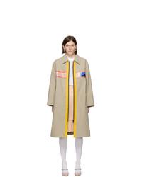 Manteau marron clair Miu Miu