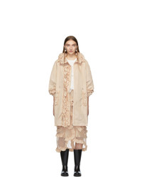 Manteau marron clair Moncler Genius
