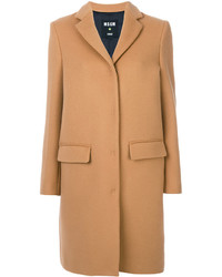 Manteau marron clair MSGM
