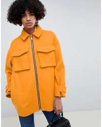 Manteau orange ASOS DESIGN