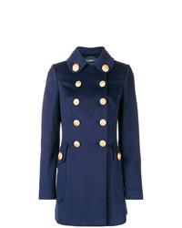 Manteau orné bleu marine Dolce & Gabbana