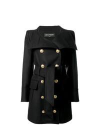 Manteau orné noir Balmain