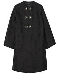 Manteau orné noir Dolce & Gabbana
