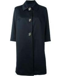 Manteau orné noir Ermanno Scervino