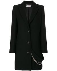 Manteau orné noir Lanvin