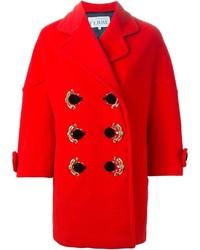 Manteau orné rouge Gianfranco Ferre