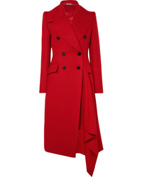 Manteau rouge Alexander McQueen