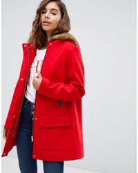 Manteau rouge ASOS DESIGN