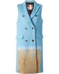 Manteau sans manches bleu clair MSGM