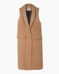 Manteau sans manches marron clair