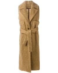 Manteau sans manches marron clair MSGM