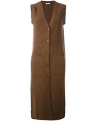 Manteau sans manches marron