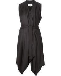 Manteau sans manches noir MM6 MAISON MARGIELA