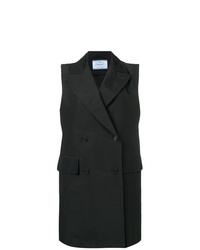 Manteau sans manches noir Prada