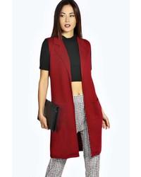 Manteau sans manches rouge