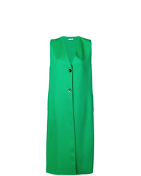 Manteau sans manches vert Jil Sander