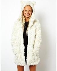 Manteau texturé blanc