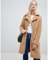 Manteau texturé marron clair Vero Moda
