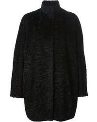 Manteau texturé noir Alexander McQueen