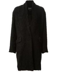 Manteau texturé noir Isabel Marant