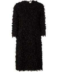 Manteau texturé noir