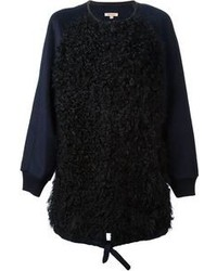 Manteau texturé noir P.A.R.O.S.H.