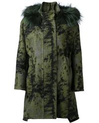 Manteau vert foncé Fendi