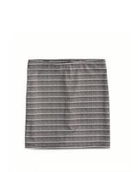 Minijupe à rayures horizontales grise