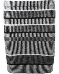 Minijupe à rayures horizontales grise Alexander Wang