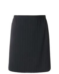 Minijupe à rayures verticales noire Giorgio Armani Vintage