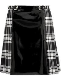 Minijupe écossaise noire et blanche Versace