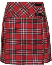 Minijupe écossaise rouge