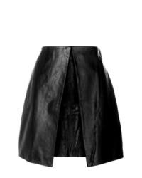 Minijupe en cuir noire Aalto