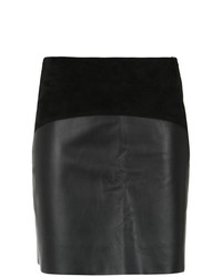 Minijupe en cuir noire Egrey