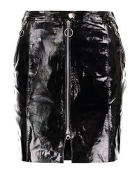 Minijupe en cuir noire Gestuz