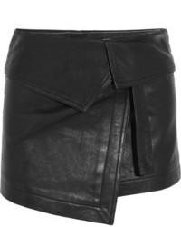 Minijupe en cuir noire Isabel Marant