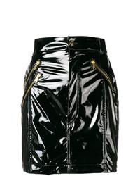 Minijupe en cuir noire Versace Jeans