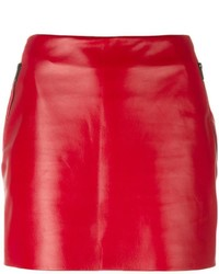 Minijupe en cuir rouge Barbara Bui
