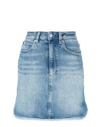 Minijupe en denim bleu clair Calvin Klein Jeans