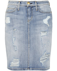 Minijupe en denim bleue Current/Elliott
