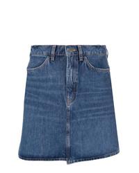 Minijupe en denim bleue MiH Jeans