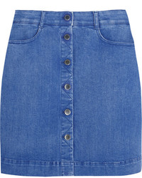 Minijupe en denim bleue Stella McCartney