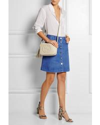 Minijupe en denim bleue Stella McCartney