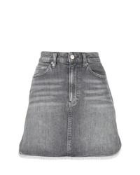Minijupe en denim grise Calvin Klein Jeans