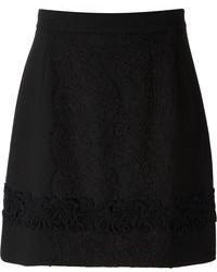 Minijupe en dentelle noire Dolce & Gabbana
