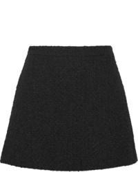 Minijupe en laine noire Gucci